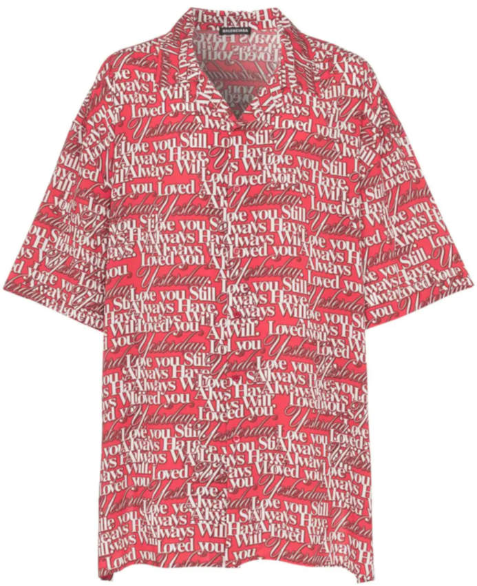 Balenciaga I Will Always Love You Printed Red Shirt Worn By Wiz Khalifa
