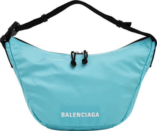 Balenciaga Light Blue Wheel Sling Bag