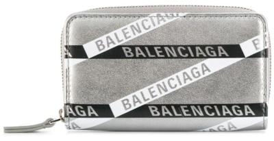 Balenciaga Metallic Leather Everyday Zip Wallet Worn By Lil Uzi Vert
