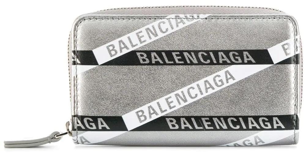 Balenciaga Metallic Leather Everyday Zip Wallet Worn By Lil Uzi Vert