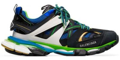 Balenciaga Multicolor Blue And Green Track Trainers Worn By Lil Skies