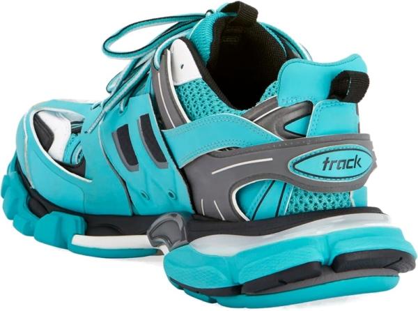 Balenciaga Neon Blue And Grey Track Trainers