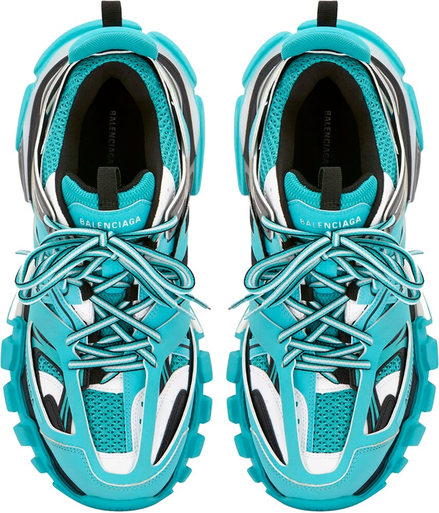 Neon Blue & Grey Track Trainers