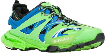 Balenciaga Neon Green And Blue Track Trainers