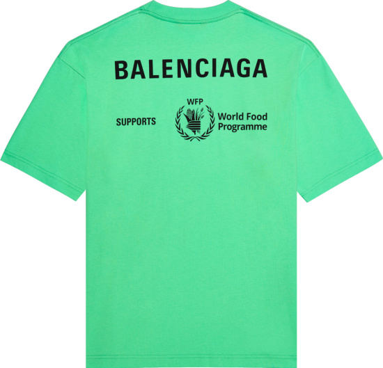 Balenciaga Neon Green Wfp T Shirt