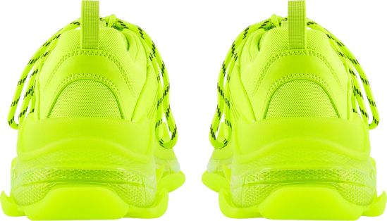 Balenciaga Neon Yellow Triple S Sneakers