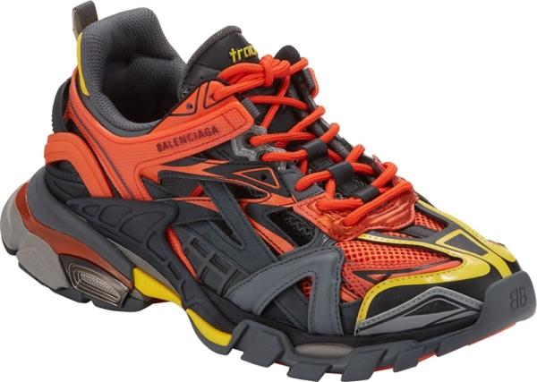 Balenciaga Orange Black And Yellow Track2 Sneakers