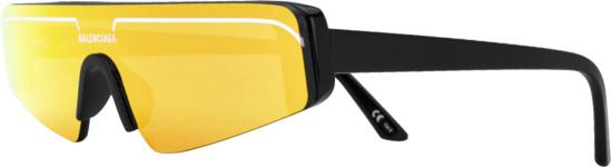 Balenciaga Orange Black Ski Sunglasses
