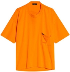 Balenciaga Orange Droopy T Shrit