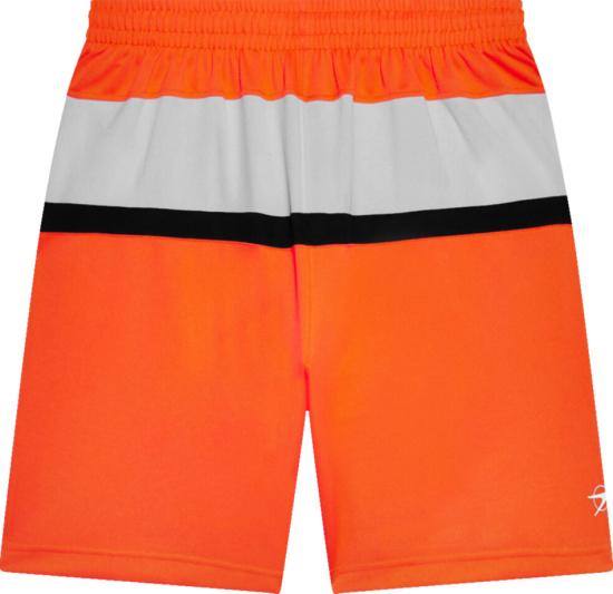 Balenciaga Orange Hockey Logo Shorts