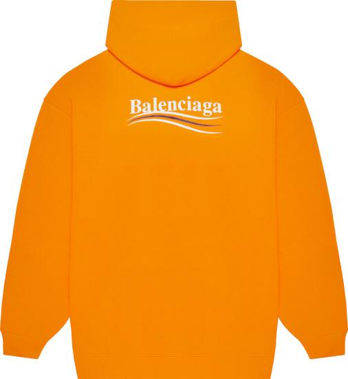 Balenciaga Orange Political Campaign Hoodie
