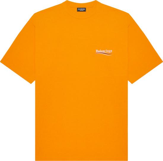 Balenciaga Orange Political Campaign Logo T Shirt