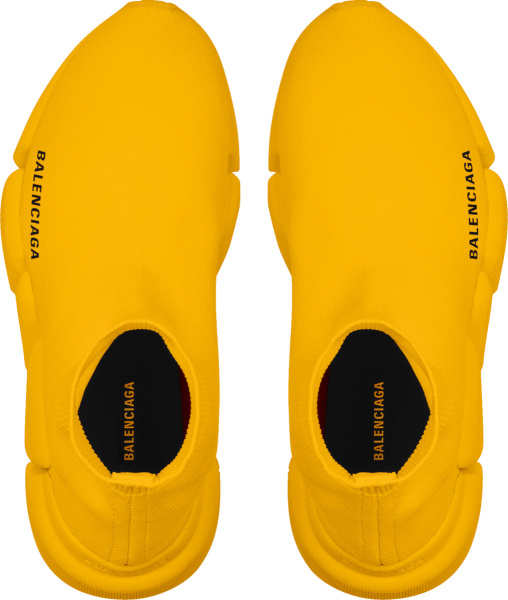 Balenciaga Orange Speed Sock Slip On Sneakers