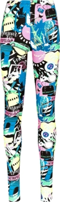 Balenciaga Paris Night Print Leggings