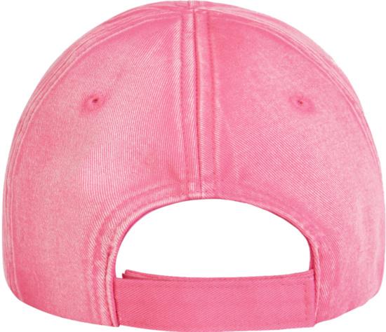 Balenciaga Pink And Black Brim Logo Hat