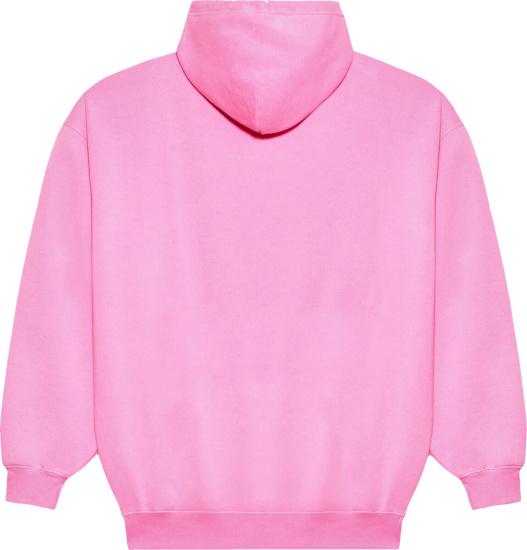Balenciaga Pink Sponsor Hoodie