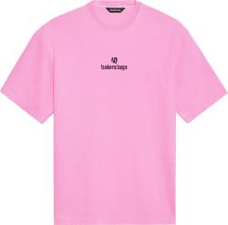 Balenciaga Pink Sponsor T Shirt