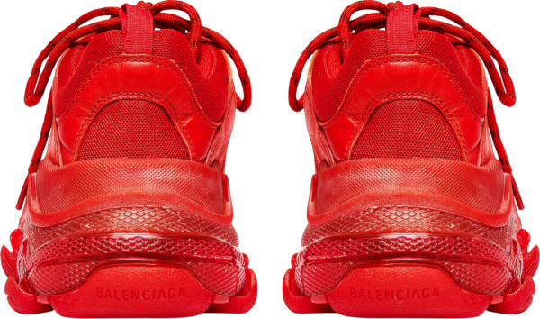 Balenciaga Red And Clear Sole Oversized Sneakers