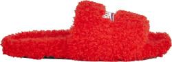 Balenciaga Red Furry Campaign Logo Slides 654261w2do16596
