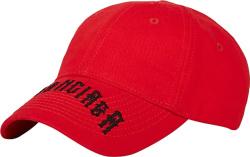 Balenciaga Red Gothic Logo Hat