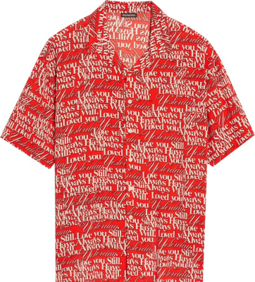 Balenciaga Red I Still Love You Print Shirt