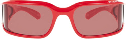 Balenciaga Red Shield Sunglasses