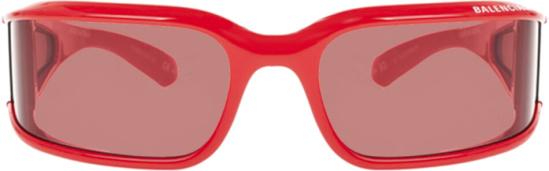 Balenciaga Red Shield Sunglasses