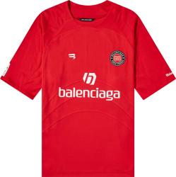 Balenciaga Red Soccer Jersey