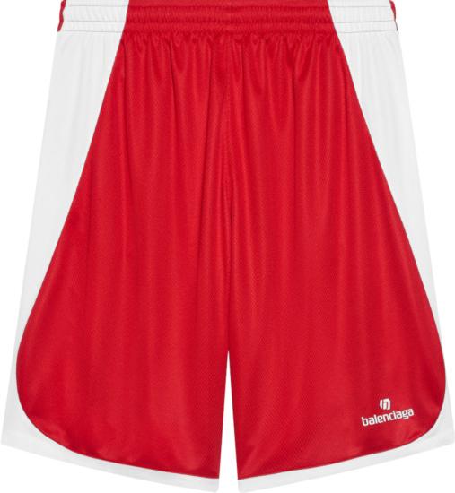 Balenciaga Red Soccer Kit Shorts