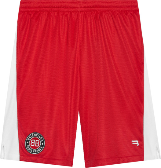 Balenciaga Red Soccer Shorts