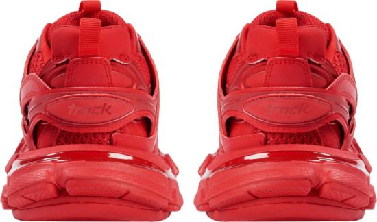 Balenciaga Red Track Trainers
