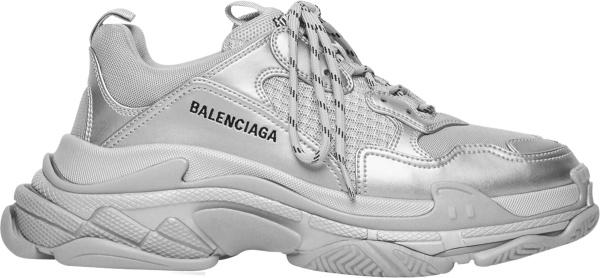 Balenciaga Silver Triple S Sneakers 536737w2fs28100