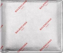 Balenciaga Wallet With Red Logo Print