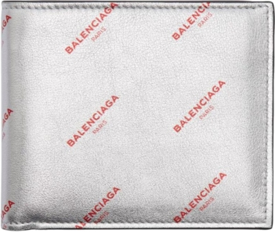 Balenciaga Wallet With Red Logo Print