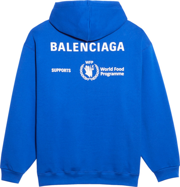 Balenciaga Wfp Blue Hoodie