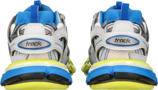 Balenciaga White Blue Yellow Track Sneakers