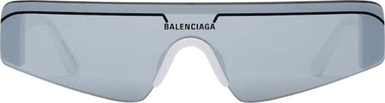 Balenciaga White Skinny Sunglasses