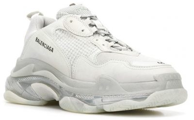 Balenciaga White Triple S Sneakers With Clear Soles Worn By Zaytoven In Spy Kids Music Video