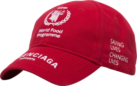 Balenciaga World Food Programme Red Hat
