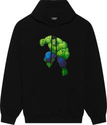Balenciaga X Marvel Black Hulk Print Hoodie 600583tlv581000