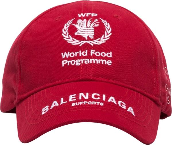 Balenciaga X World Food Program Red Hat