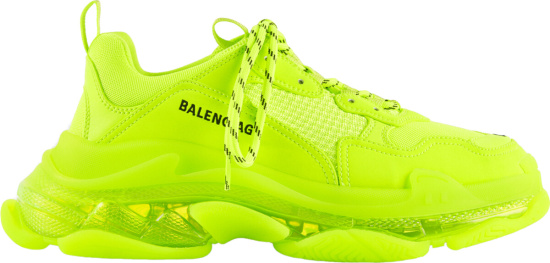 Balenciaga Yellow And Clear Triple S Sneakers