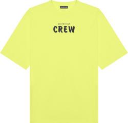Balenciaga Yellow Crew T Shirt