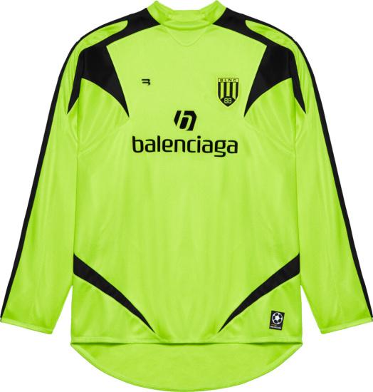 Balenciaga Yellow Long Sleeve Soccer Jersey