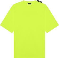 Balenciaga Yellow Shoulder Tag T Shirt