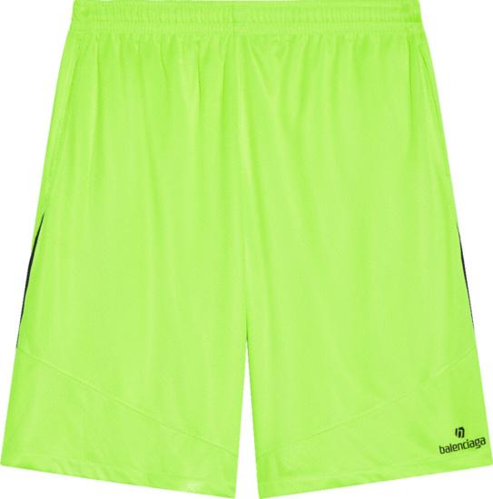 Balenciaga Yellow Soccer Shorts Copy