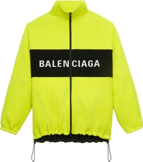 Balenciaga Yellow Zip Jacket