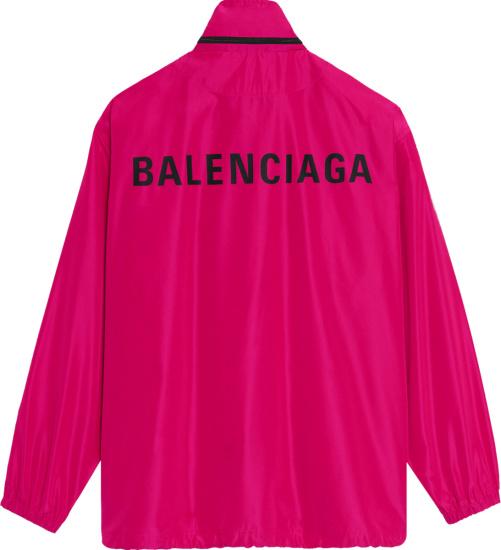Balenciga Fuschia Windbreaker Jacket