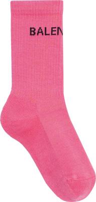 Balenciga Logo Jacquard Pink Socks