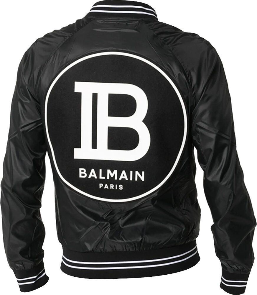 Logo Patch Black Bomber Jacket